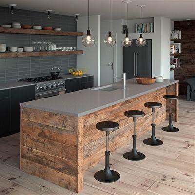 4003 Sleek Concrete™ by Caesarstone | Farmhouse kitchen decor .