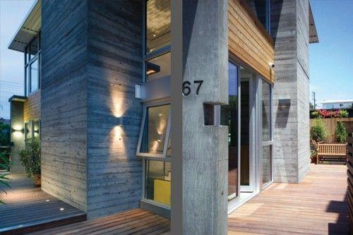 outdoor raw concrete exterior bungalow house design | Concrete .