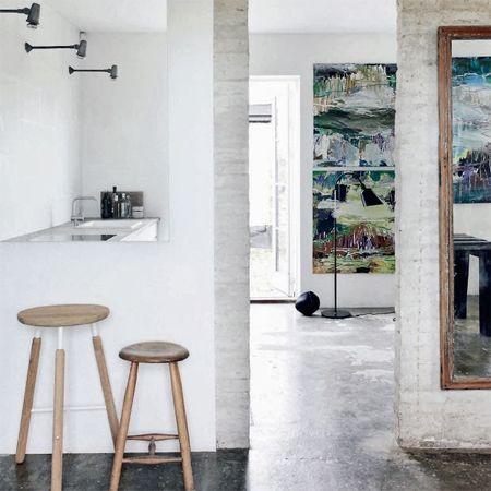 Closing off an open-plan kitchen or semi open-plan kitchen design .