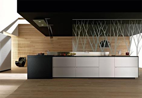 Valcucine new Artematica Multiline Titanium Kitchen - a kitchen of .