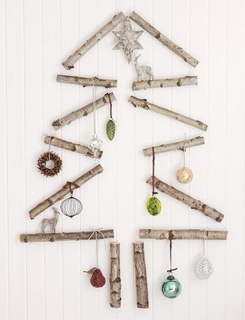 40 DIY Alternative Christmas Trees Adding Fun Wall Decorations to .