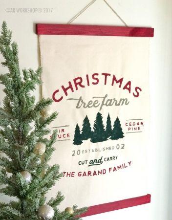 Christmas Tree Farm Established Canvas Wall Hanging | Canvas wall .