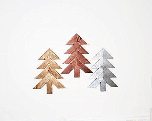 Amazon.com: Wood Chevron Trees, 3 pc Set, Wooden Christmas Tree .