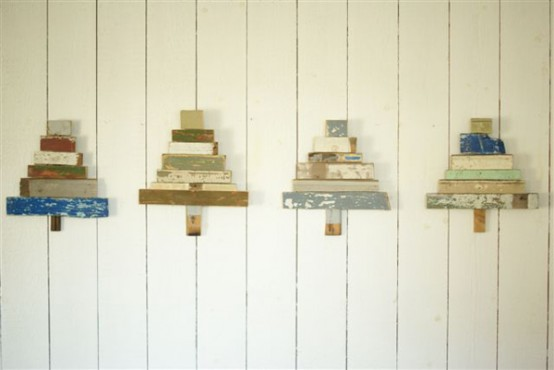 Recycled Wooden X-Mas Trees To Hang On Wall - DigsDi