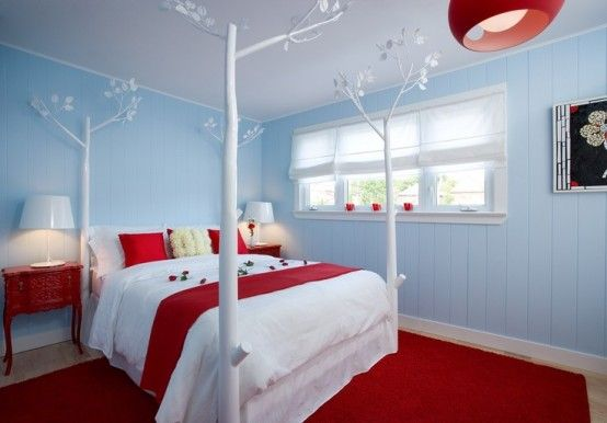 Red Accents In Bedrooms – 34 Stylish Ideas | Red accent bedroom .