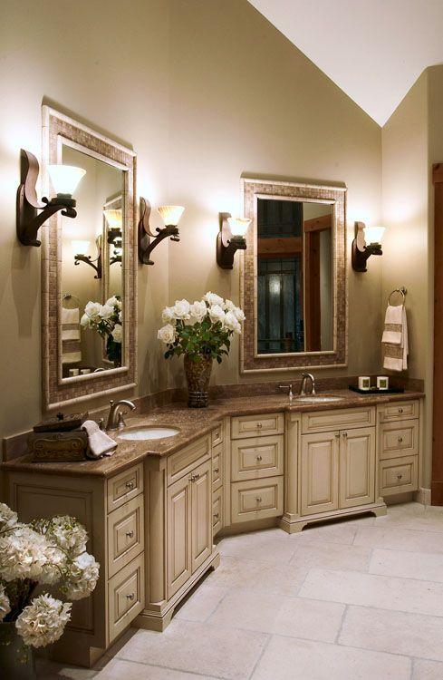 transitional master bathrooms   New Construction - Master Bathroom .