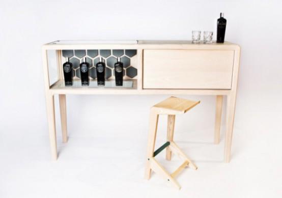 Refined Linnk Liquor Kabinet With Geometric Design - DigsDi
