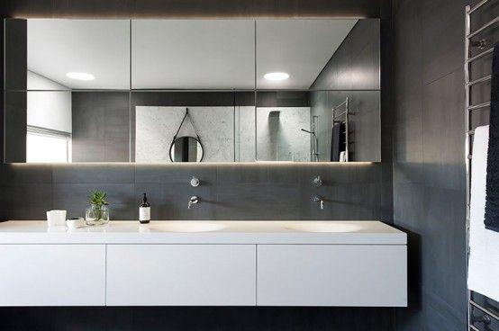 Refined Yet Minimalist Bathroom Design With Greenery | Интерьер .