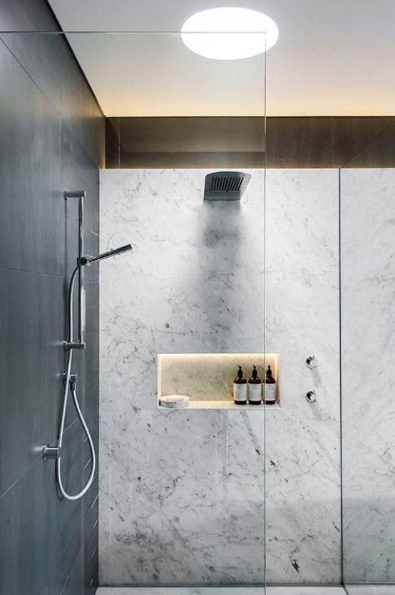 Refined Yet Minimalist Bathroom Design With Greenery | DigsDigs .