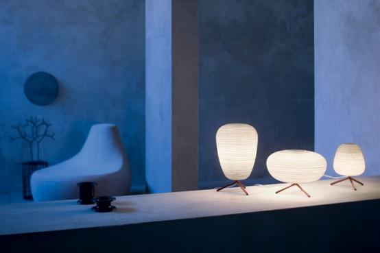Reinterpreted Japanese Rice Paper Lanterns - Rituals By Foscarini .