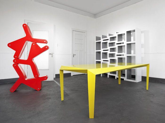 From Reinier de Jong's website: REK is a bookcase that grows with .
