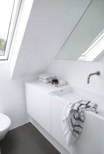 67 Relaxing Scandinavian Bathroom Designs   Minimalist bathroom .