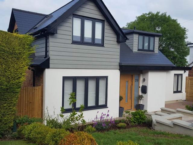 1960s bungalow renovation - Contemporary - House Exterior - Surrey .