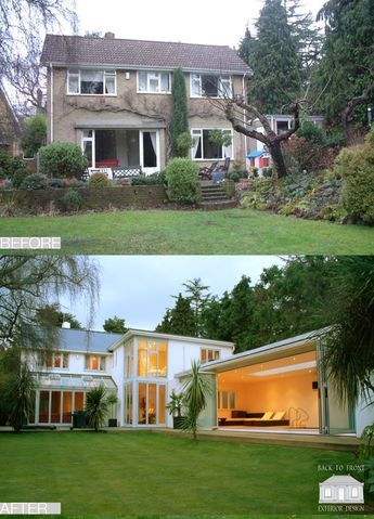 1960's exterior transformation by Back to Front Exterior Design .