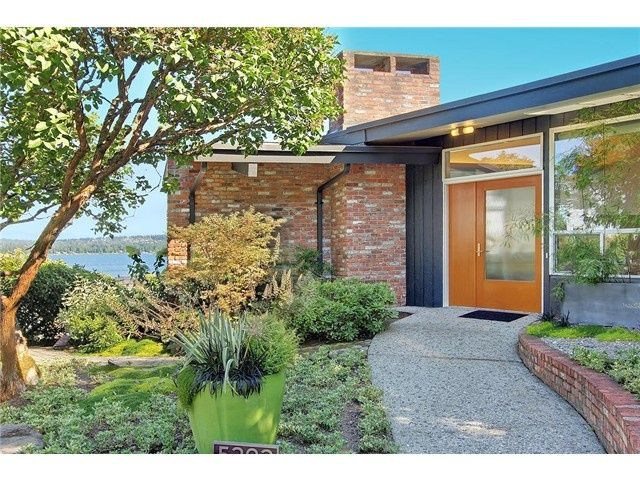 Image result for mid century house orange brick   Exterior house .
