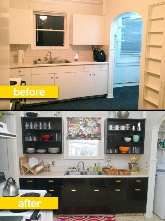 Kitchen Before & After: A Rental Kitchen Gets a Glam Makeover .