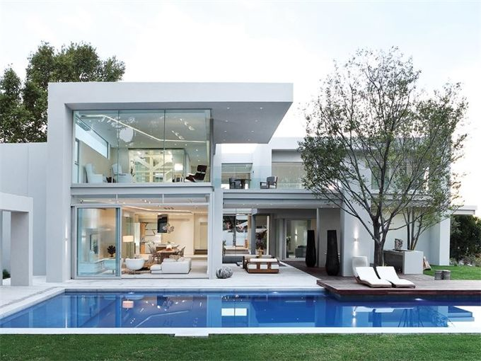 Refined Interiors Displayed by Opulent Modern Residence in .
