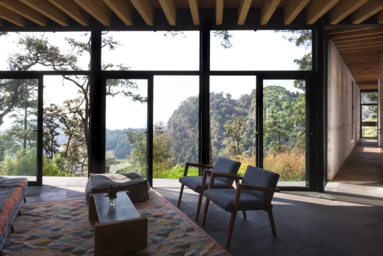 Contemporary Forest House Opened To Outdoors - DigsDi
