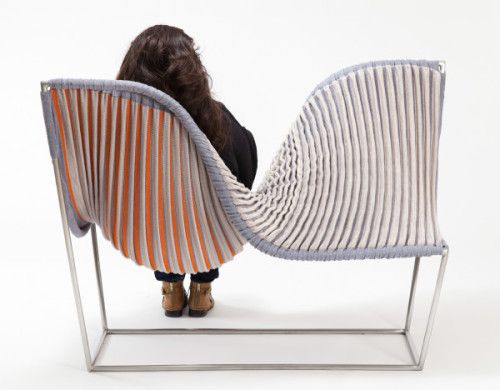 RISD furniture design students teamed with textiles students to .
