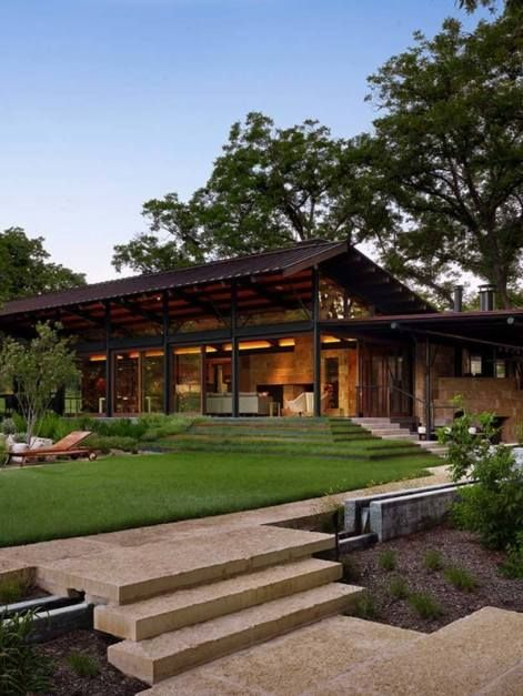 Modern-rustic barn style retreat in Texas Hill Country | Modern .