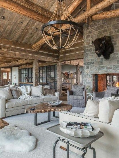 A rustic mountain retreat perfect for entertaining in Big Sky .