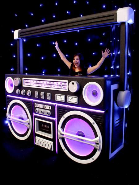 Giant Boombox Prop With Lights - Black   Event Prop Hi