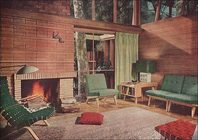 1951 Mid Century Modern Living Room | Mid century modern living .
