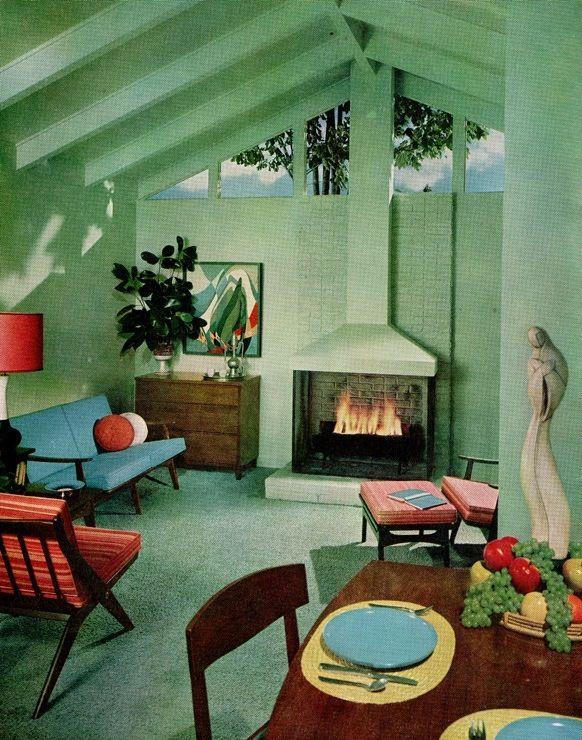 50s interior | Mid century modern interiors, Mid century modern .