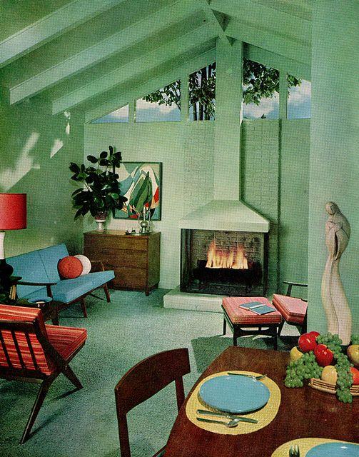 Sherwin William Home Decorator 1959 | Mid century modern interiors .