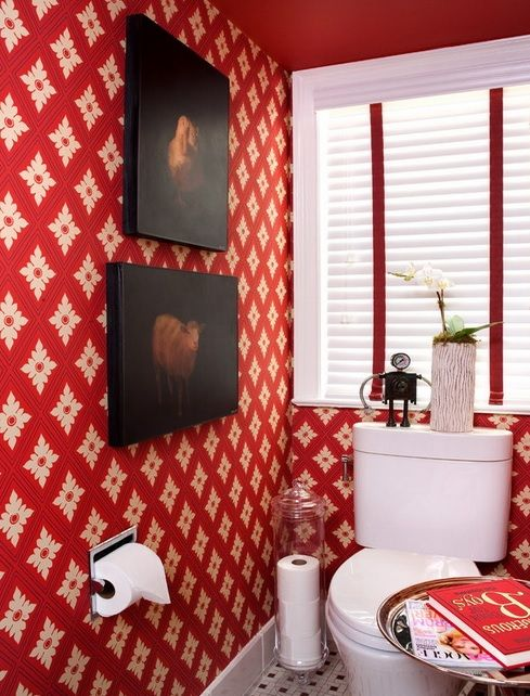 Retro Styled Bathroom Resembling Of A Living Room | Eclectic .