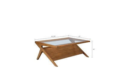 INK+IVY Rocket Coffee Table with Tempered Glass | Living Spac