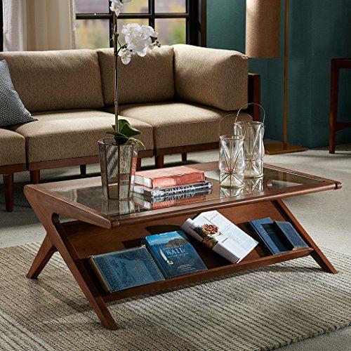 Ink Ivy IIF17-0045 Rocket Coffee Table – Solid Wood, Glass .