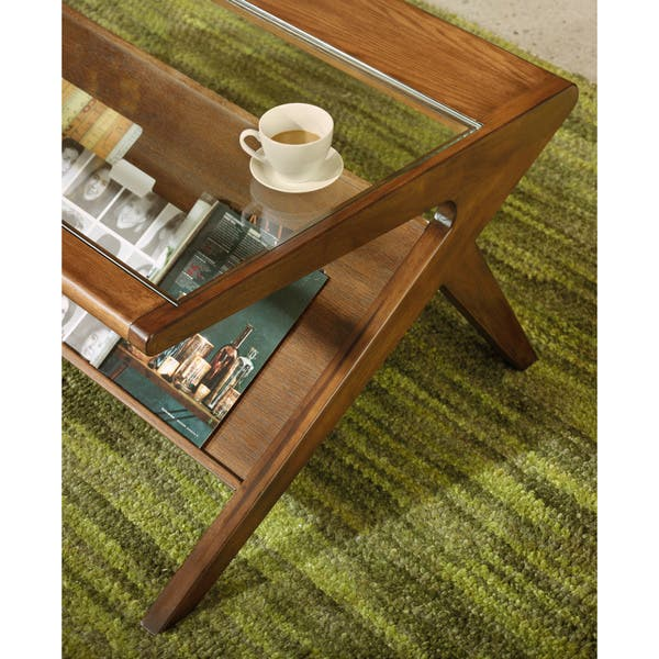 Shop Ink and Ivy Rocket Coffee Table with Tempered Glass .