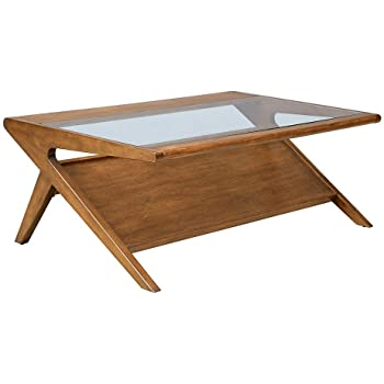 Amazon.com: Ink+Ivy Rocket Coffee Table - Solid Wood, Glass .
