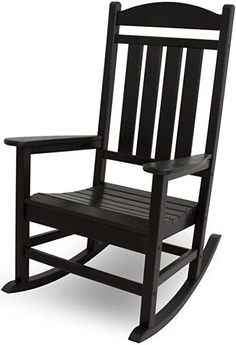 Amazon.com : POLYWOOD R100BL Presidential Rocking Chair, Black .
