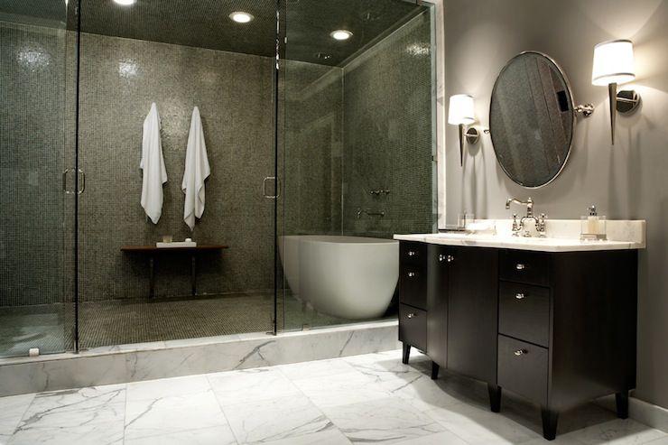 Marble Shower - Modern - bathroom - Milton Development | Bathroom .