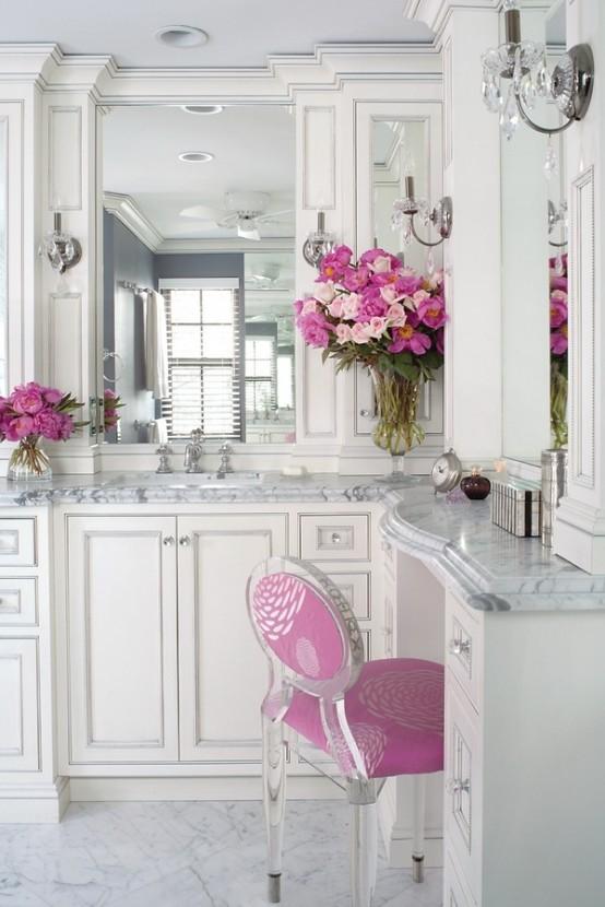 Romantic And Peaceful Bathroom Design Of Marble - DigsDi