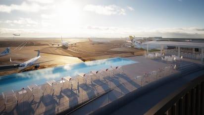 TWA Hotel's rooftop infinity pool at JFK Airport should make a .