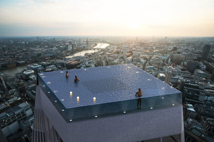 World's First 360-Degree Rooftop Infinity Pool Designed for London .