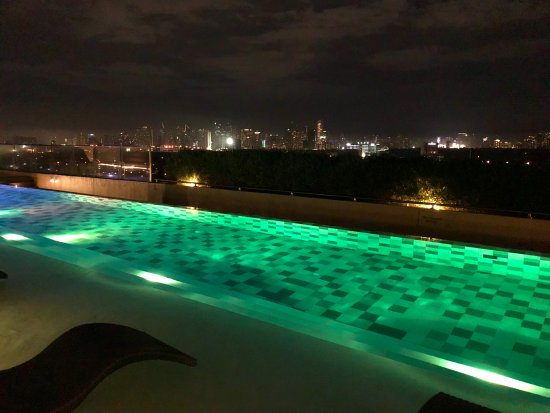 Rooftop Infinity Pool with Metro Manila Backdrop - Picture of .