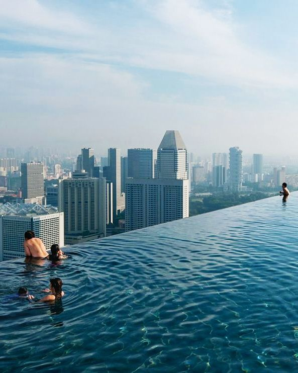 Rooftop infinity pool,Singapore: | Sands resort, Sands singapore .