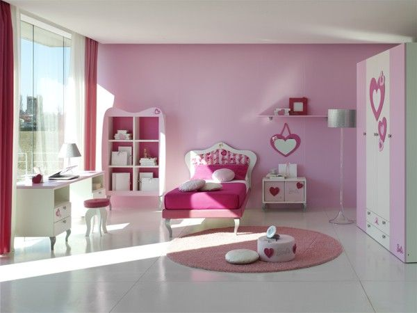 15 Cool Ideas For Pink Girls Bedrooms   DigsDigs   Girls room .