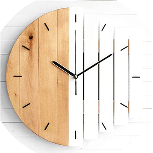 Amazon.com: Silent Xylophone Wooden Wall Clock Modern Design .