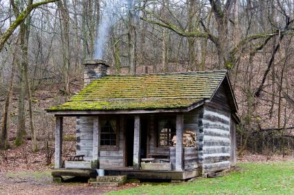 Log Cabin, Cabin, Hillbilly, Forest, Log, Appalachian Mountains .