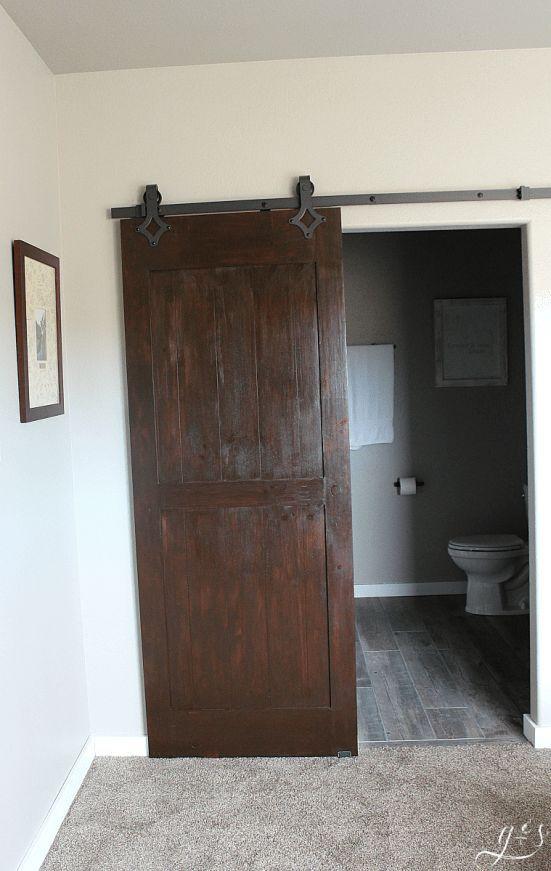 DIY Barn Doors Two Ways | Trendy bathroom tiles, Bedroom closet .