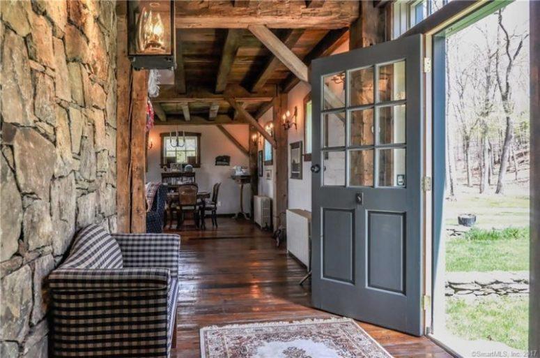 Rustic Vintage Home Built Of Two Barns - DigsDi