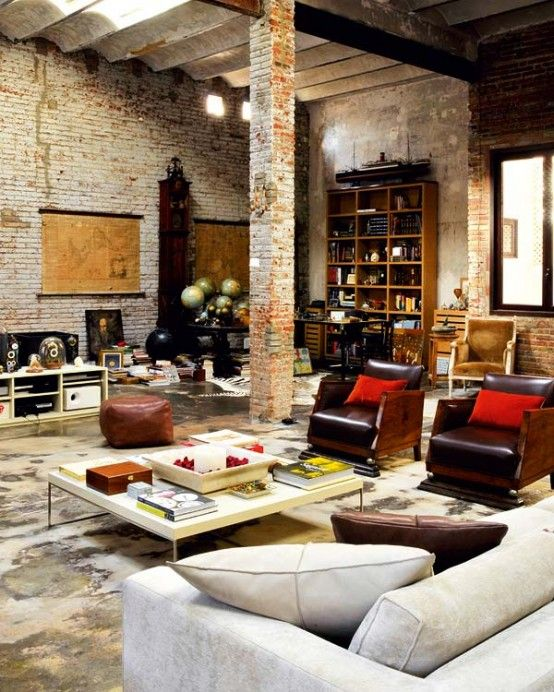 Decoholic » Modern Renovated Loft With Industrial Interior Design .