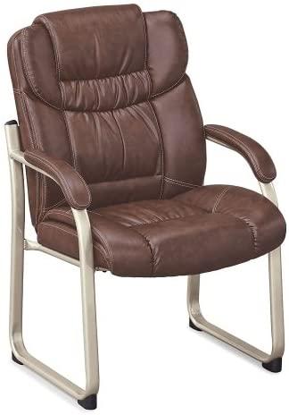 Amazon.com : Morgan Guest Chair Savage Cocoa Faux Leather/Mocha .