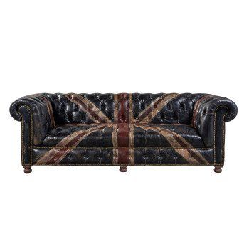 Shabby 2 Seater Sofa Savage Leather | Chesterfield, Red velvet .