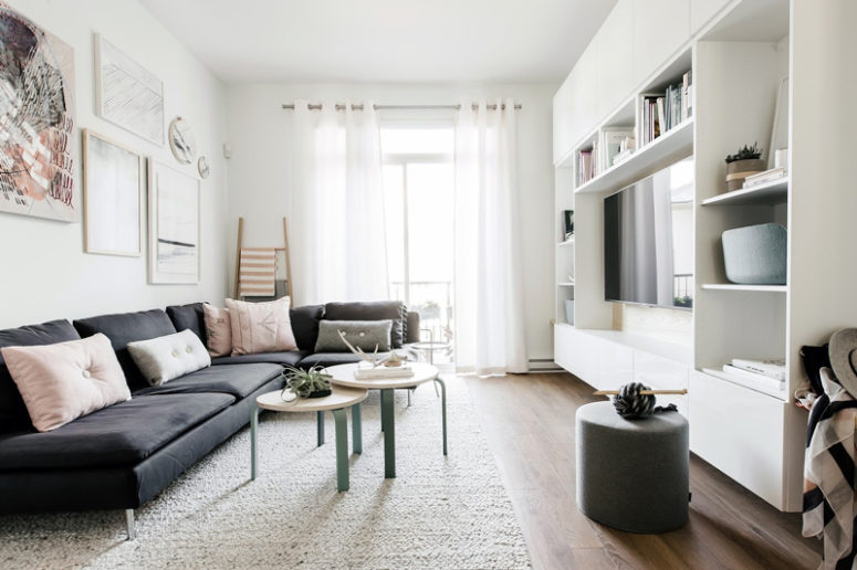Scandinavian Home With Cozy Pastel Touches - DigsDi